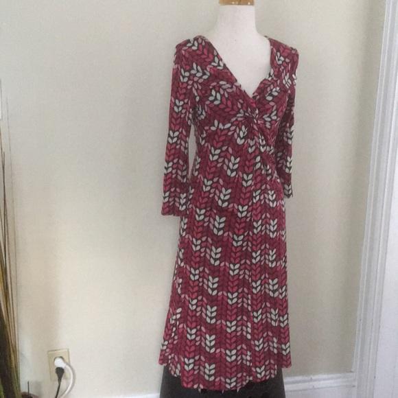 Boden Dresses Pink Brown Jersey Knit Dress 4r Poshmark